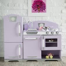 kidkraft kitchen island kidkraft 2 piece lavender retro kitchen and refrigerator 53290