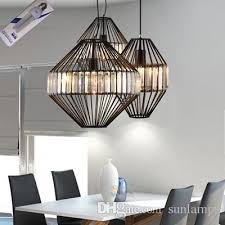 Restaurant Kitchen Lighting Modern Pendant Light Clear Black Bar Lounge Restaurant
