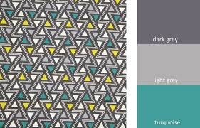 Graphic Upholstery Fabric Turquoise Gray Geometric Upholstery Fabric For Furniture Yellow