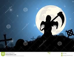 blue halloween background halloween night sky background full moon and shadow tree stock
