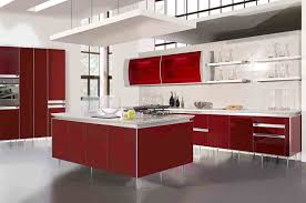 Red Lacquer Kitchen Cabinets Kitchen Awesome Decor Interior Design Of Kitchen Cabinets