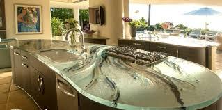 plan de travail cuisine verre photo cuisine avec plan de travail moderne en 65 idées