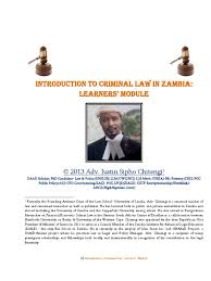 introduction to criminal law in zambia learners module