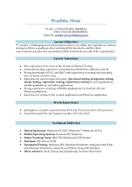 Software Tester Resume Pratibha Mone Software Tester Resume