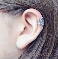 earring cuffs jewelry filigree ear cuff silver tone