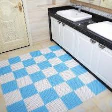 Plastic Kitchen Rugs Colorful Spliced Eco Friendly Pvc Bathroom Carpet Shower Room Non