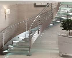 Glass Stair Rail by Stainless Steel Staircase Design Stairs Stainless Steel Round