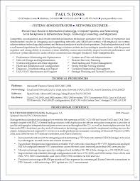 Best Resume Format Network Engineer by Resume Format For Experienced System Administrator Resume For