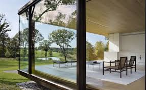 House Design Glass Modern by Steel Frame Sustainable Weekend House With All Glass Facade