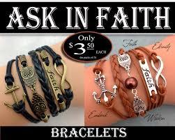faith bracelets 5 strand bracelets yw 2017 ask in faith women theme