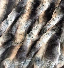 Faux Fur Comforter Silver Gray Black Chinchilla Fake Faux Fur Fabric By The Yard