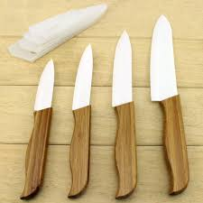 kitchen accessories kitchen knives wood handle ceramic knife set