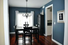 dark dining room blue wall paint trend spacious dining room with dark painting