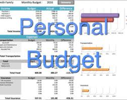 Home Budget Excel Template Monthly Budget Spreadsheet Household Tracker Microsoft
