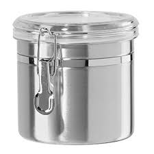 snagshout 5 piece stainless steel canister set w clamp lids 5 piece stainless steel clamp canister set with clear lids airtight canister sets for