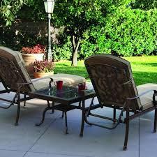 darlee santa barbara 2 person cast aluminum patio chaise lounge set