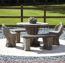 garden furniture woodlands stone benches table patio set s s shop