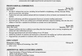 Hair Stylist Sample Resume by Hair Stylist Resume Sample Professional Experience Recentresumes Com