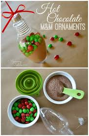 testers diy chocolate ornaments with m m s