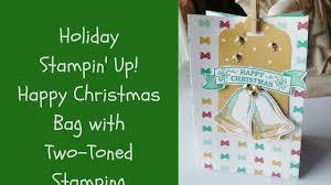 christmas craft two toned stamping envelope punch board u0026 stampin