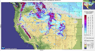 Western Usa Map by Halfway Through Season Snowpack In U S West Thins Imageo