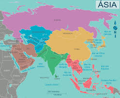 Asia Physical Map 100 Maps Of Asia Physical Map Of Asia Map Of Asia Stock