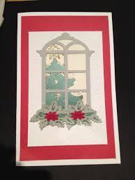 cricut christmas card using winter wonderland for tree