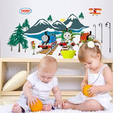 kids train wallpaper promotion shop for promotional kids train thomas train vinyl wall stickers for kids rooms girls boy home decor living room sofa wall decals home decoration wallpaper p5