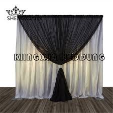Black Backdrop Curtains Looking White And Black Color Silk Backdrop Curtain
