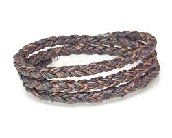 braided leather chain bracelet images Skinny brown triple wrap braided leather bracelet lucky dog leather jpg