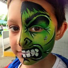 hulk face paint face painting boys schminken jongens pinterest