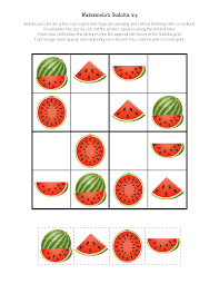 watermelon sudoku puzzles free printables gift of curiosity