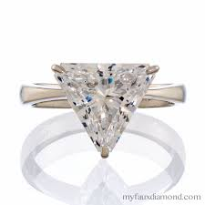 engagement rings ta ta rings cubic zirconia triangle cut solitaire gold ring