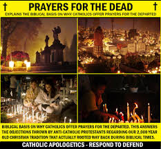 biblical basis on why catholics offer prayers for the dead by