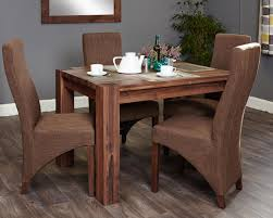 shiro walnut 4 seater dining table set full back socdr04a cdr03c