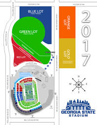 University Of Tennessee Parking Map by Georgia State Stadium Parking Map