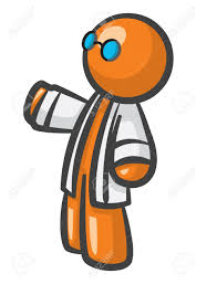 Orange Glasses by Orange Man Scientist With Lab Coat And Glasses Royalty Free