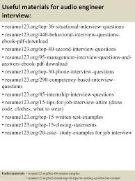 Engineering Internship Resume Sample by Top 8 Audio Engineer Resume Samples