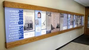 wall display environmental graphic design