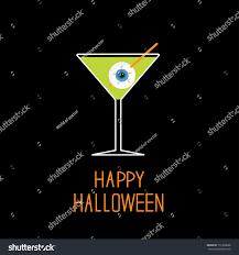 martini green martini glass green cocktail eyeball halloween stock vector