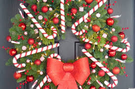 christmas craft idea a candy cane wreath that u0027ll make your door