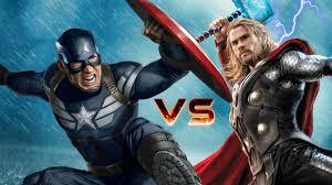 captain america thor epic superheroes battle avengers