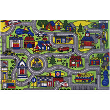 Green Kids Rug Fun Rugs Driving Time Kids Rugs Walmart Com