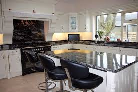 Kitchen Island Black Granite Top Black Granite Countertops With Oak Cabinets Home Design