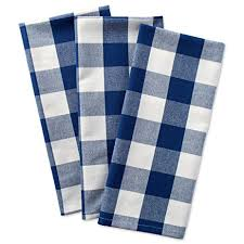 dii cotton buffalo check plaid dish towels 20x30 set