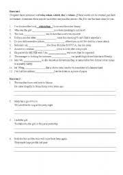 english teaching worksheets adjective clauses