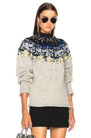 acne studios sirus icelandic sweater in light combo fwrd