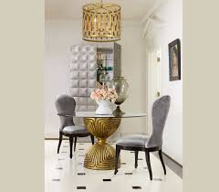 shangri la gilded dining table base by hooker hooker dining room