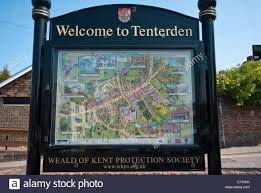Kent England Map welcome to tenterden town map sign kent england stock photo