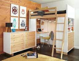 desk bed desk loft kids low loft bed with dresser and storage